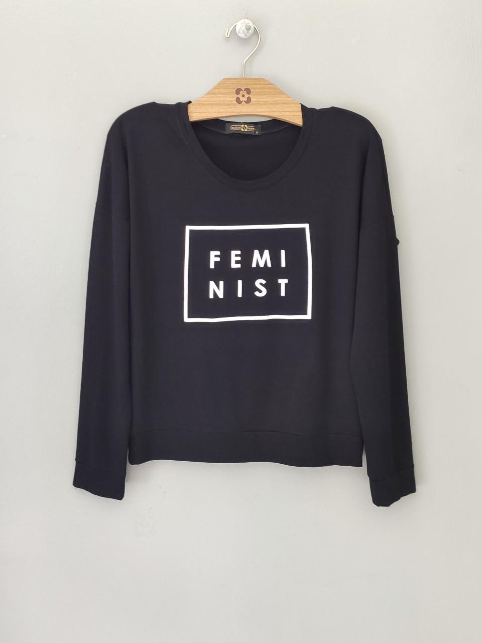 BLUSA FEMINIST EM MALHA
