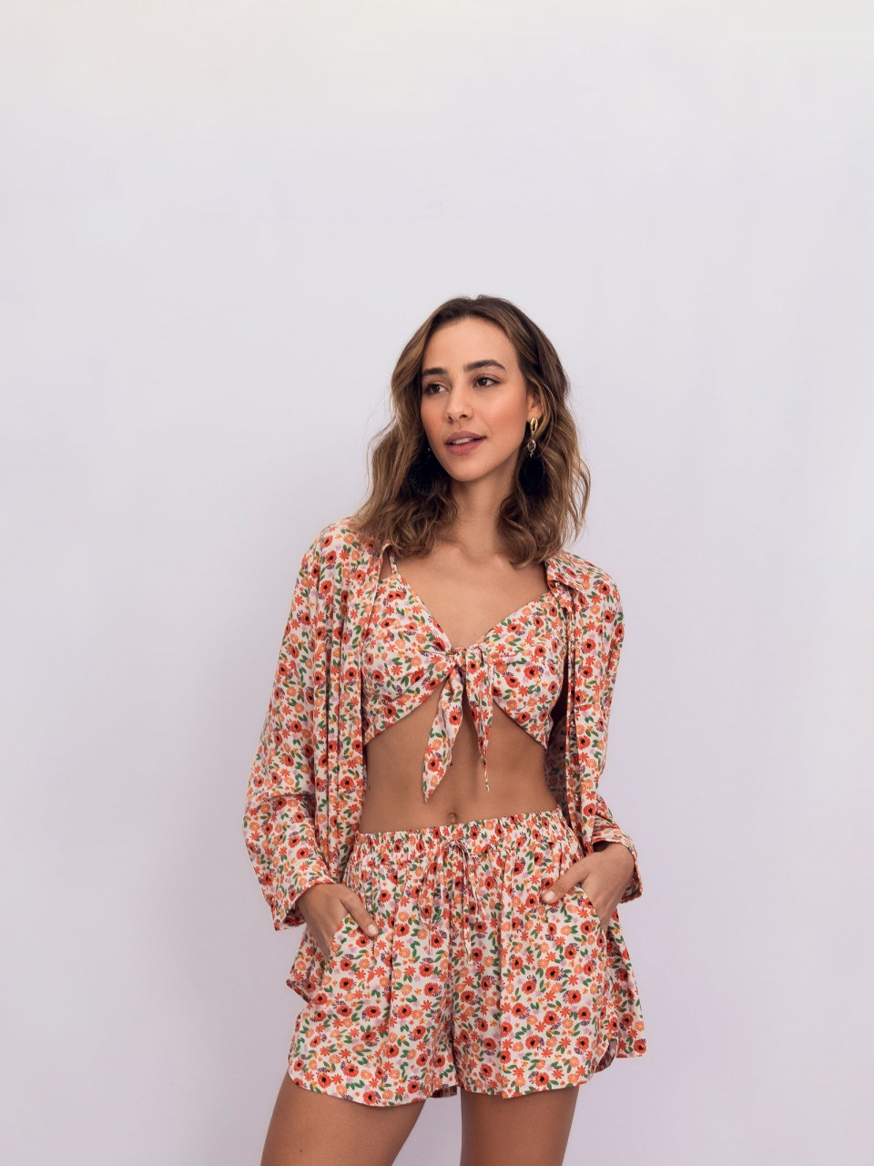 TOP CROPPED VISCOSE FLORAL LIBERTY